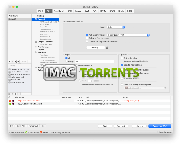 Output Factory for Mac 2.4.61 Free